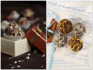 tartufi al cioccolato fondente e rum