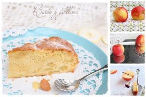 plum cake z jabłkami