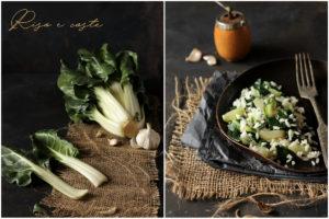 Ryż z burakiem liściowym, pranzo vegetariano, pranzo veloce,