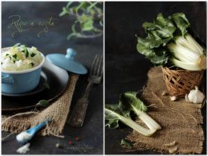 ryż z burakiem liściowym, pranzo vegetariano, piatto salutare,