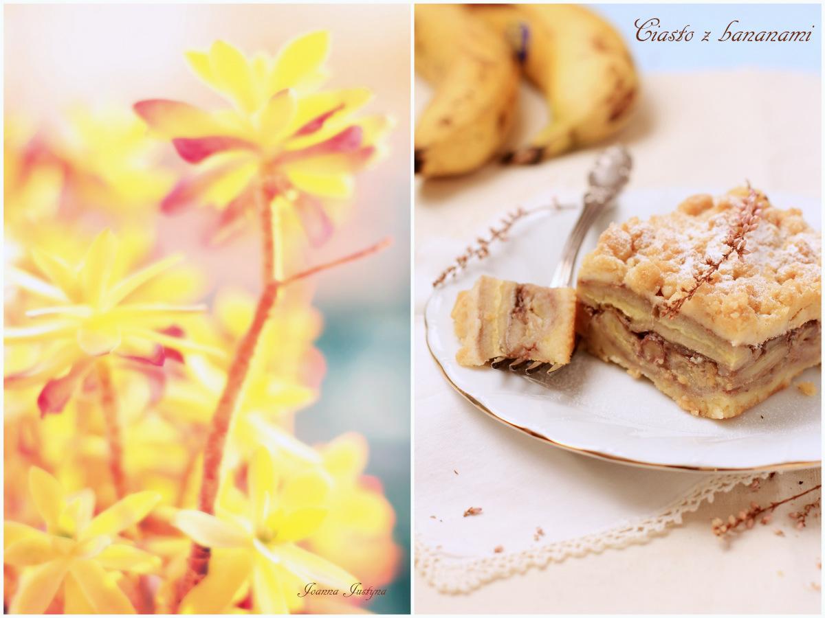 Ciasto kruche z bananami, wypieki, fotografia kulinarna