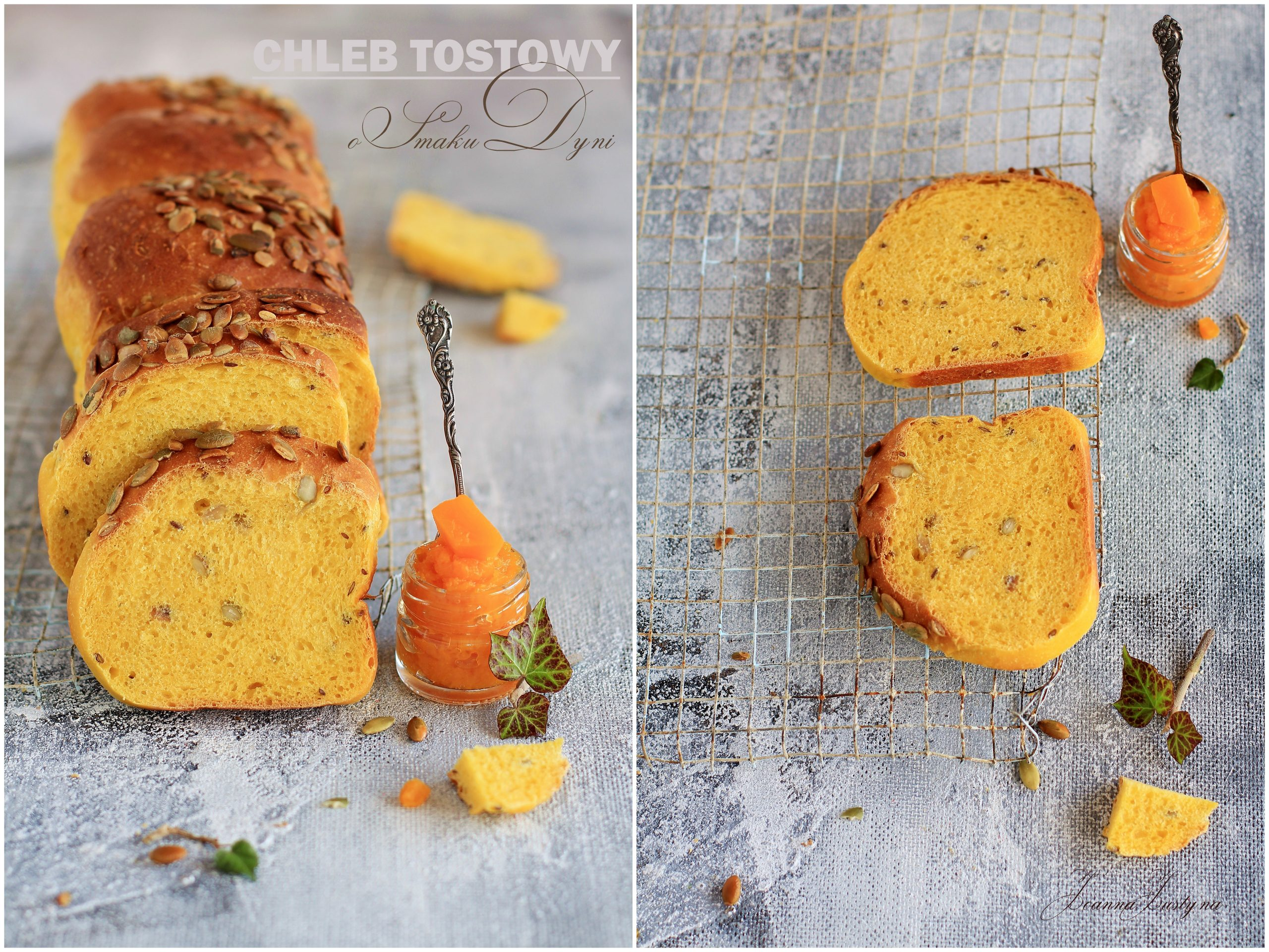 chleb tostowy o smaku dyni