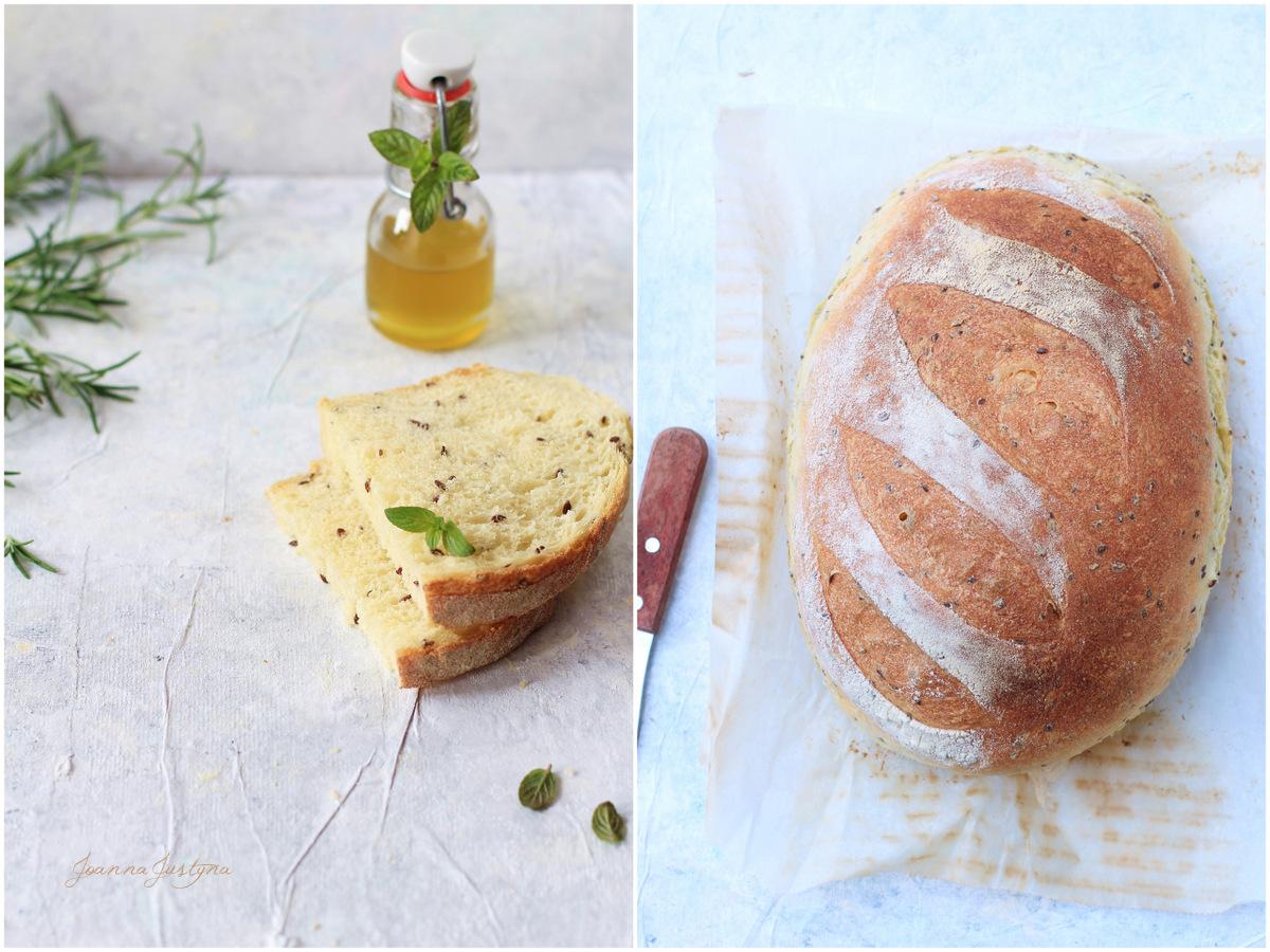chleb z ziaren pszenicy twardej