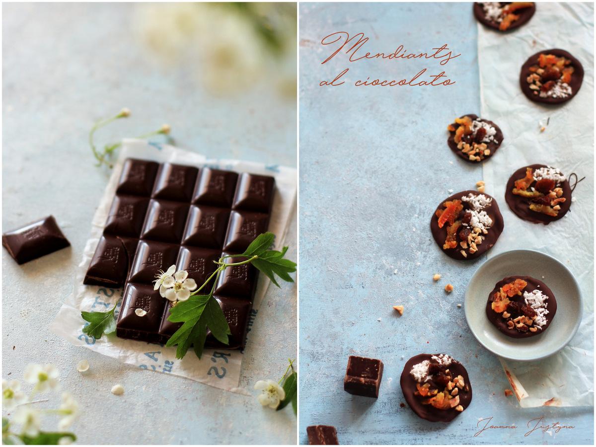 Mendiant al cioccolato fondente
