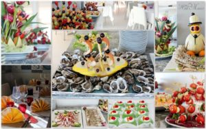 decorazioni di frutta e verdura
