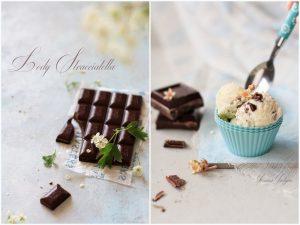 Lody śmietankowe z kawałkami czekolady